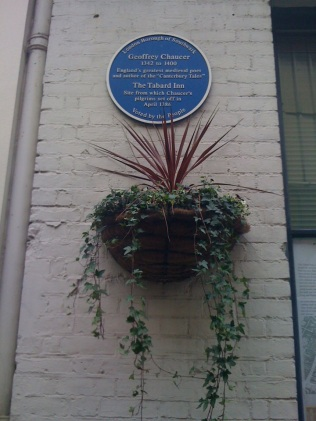 Today, a plaque marks where The Tabard originally stood - and The Tales began